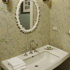 Contemporary Powder Room by Molly McGinness Interior Design