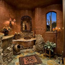Traditional Powder Room by Mooney Design Group, Inc.
