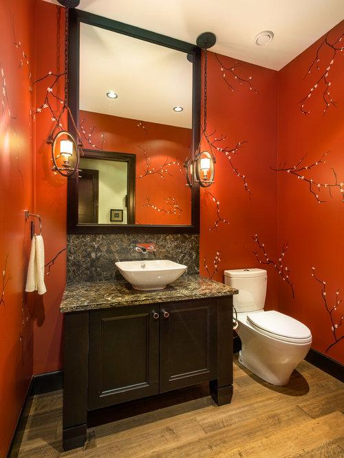 fotos de ba os dise os de ba os r sticos con paredes rojas