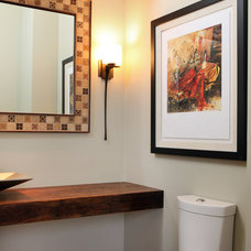 Contemporary Powder Room by Normandy Remodeling