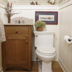 traditional powder room by Normandy Remodeling