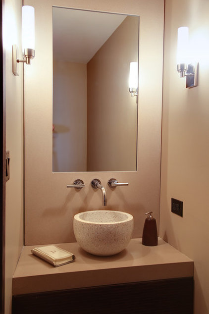 Contemporary Powder Room by Norwood Architects
