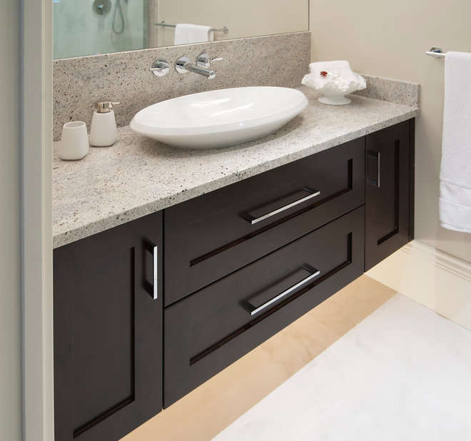 Contemporary Powder Room by Old World Kitchens & Custom Cabinets