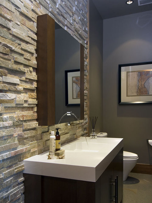 Best Stacked Stone Tile Wall Design Ideas Remodel Pictures – Stone Tile Bathroom Wall