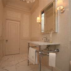 Traditional Powder Room by oomph design inc.