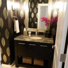 Contemporary Powder Room by eb . flow . design . group