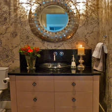 Contemporary Powder Room by Kathleen Tapping Decor