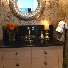 Modern Powder Room by Kathleen Tapping Decor