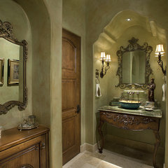 traditional powder room by R.J. Gurley Custom Homes