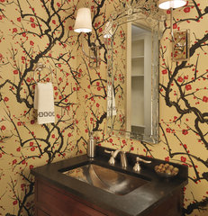 modern powder room by Rachel Reider Interiors
