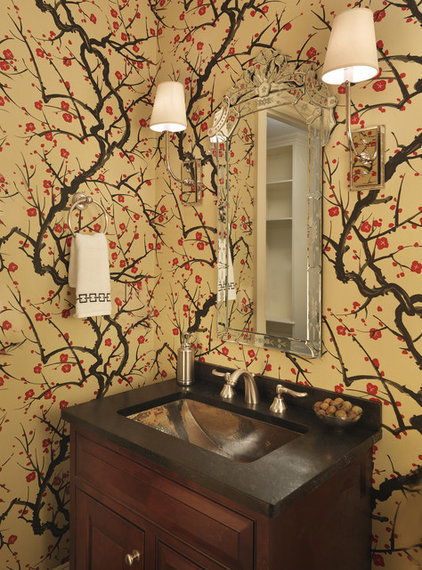 Eclectic Powder Room by Rachel Reider Interiors