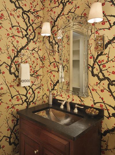 Eclectic Powder Room by Rachel Reider Interiors