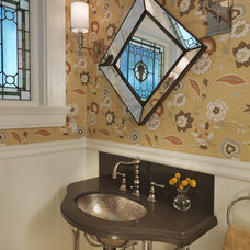Traditional Powder Room by Rachel Reider Interiors