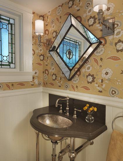 Traditional Powder Room by Rachel Reider Interiors