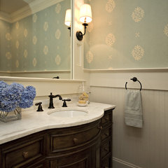 traditional powder room by Driggs Designs