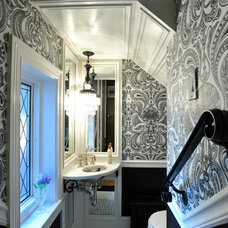 Traditional Powder Room by The Howland Group