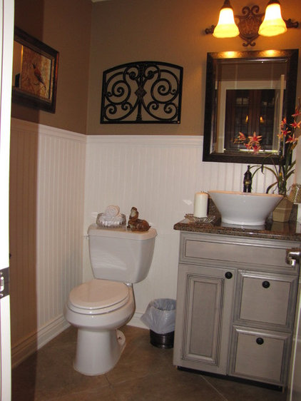 Traditional Powder Room Powder Room remodel