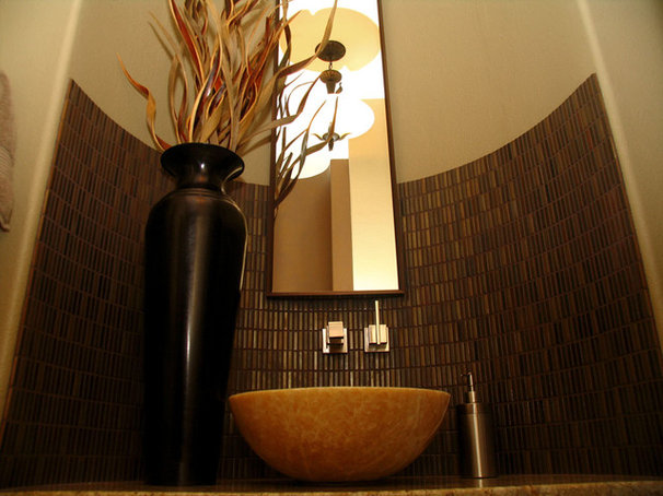 Contemporary Powder Room by Wendy O'Brien Interior Planning & Design