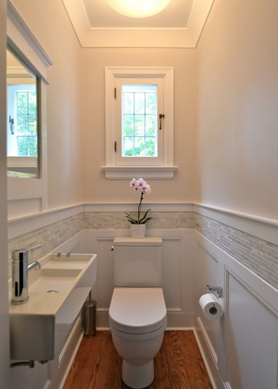 American Traditional Powder Room by Design Cube Inc.