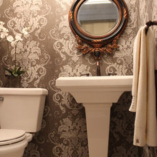 Traditional Powder Room by Interiors By Mandy Inc.