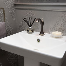 Eclectic Powder Room by Susan Brunstrum of SWEET PEAS DESIGN INC