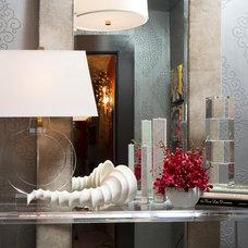 Eclectic Powder Room by Susan Brunstrum of SWEET PEAS DESIGN INC