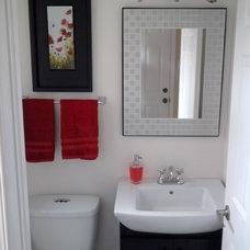 Modern Powder Room by Laura Boisvert Designs