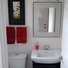 modern powder room by LB Decor and Designs