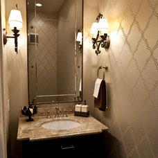 Transitional Powder Room by Ridgewater Homes Inc