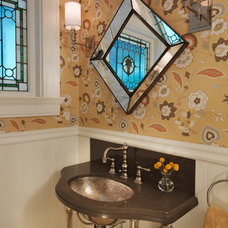 Contemporary Powder Room by S+H Construction