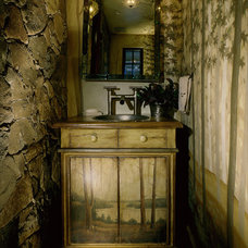 Rustic Powder Room by Saint Dizier Design