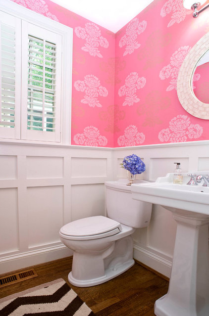 Traditional Powder Room by Sara Tuttle Interiors