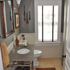 Traditional Powder Room by Scandic Builders, Inc.