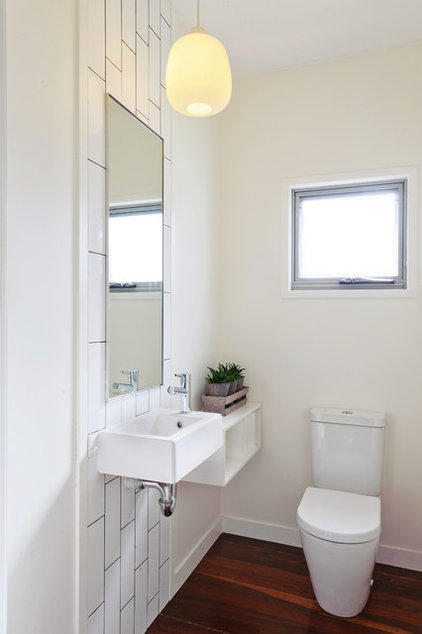 Contemporary Powder Room by Skyring Architects