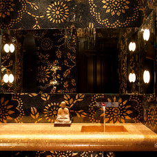 Asian Powder Room by Toro-Lombardo Design Build