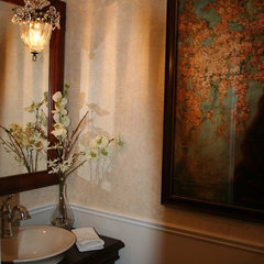 traditional powder room by Sonya Kinkade Design