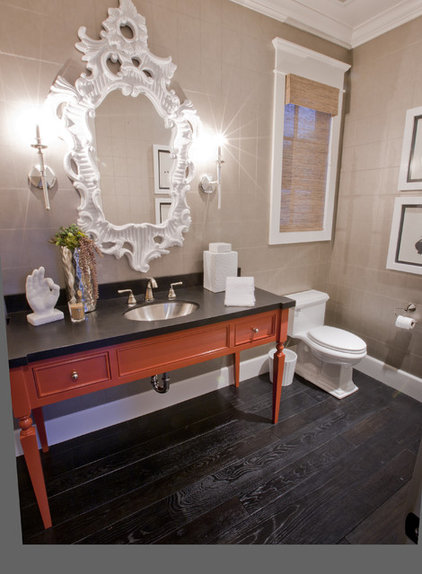 Transitional Powder Room by Spinnaker Development