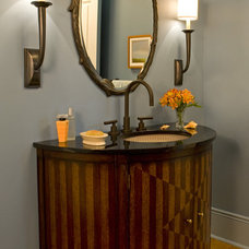 Contemporary Powder Room by Sroka Design, Inc.