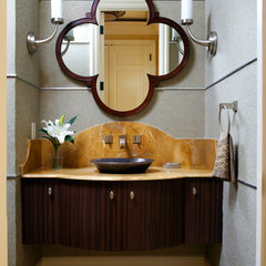modern powder room by Sroka Design, Inc.