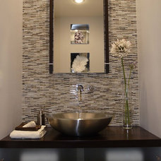Modern Powder Room by Susan Deneau Interior Design