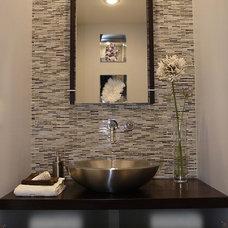 Contemporary Powder Room by Susan Deneau Interior Design