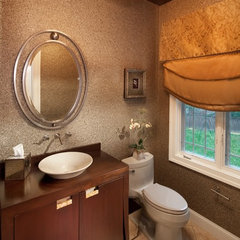 contemporary powder room by Storybook Rooms, LLC