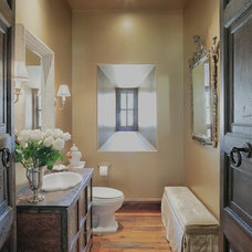 Traditional Powder Room by Palm Design Group