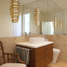 Contemporary Powder Room by Thomas Rex Hardy, AIA