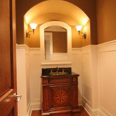 Traditional Powder Room by TLC Renovations