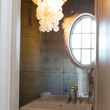 Eclectic Powder Room by Tracery Interiors