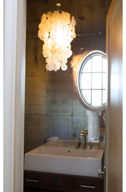 Beach Style Powder Room by Tracery Interiors