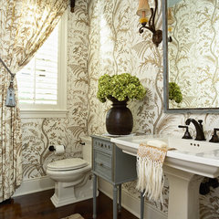 traditional powder room by Twist Interior Design