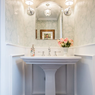 Pedestal sink ideas houzz - Powder room sink ideas ...