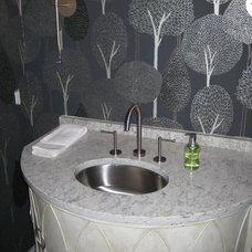 Traditional Powder Room by LaBruyere Stone